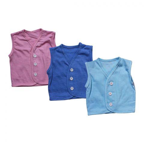Angel's Kiss Baby Vest Sando, Newborn, Multi Color Pack