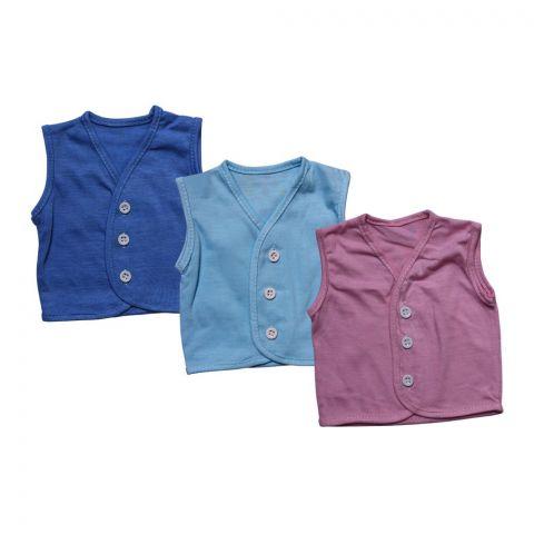 Angel's Kiss Baby Vest Sando, Medium, Multi Color Pack