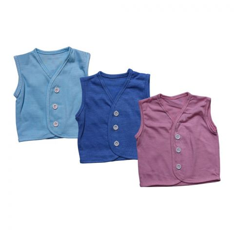 Angel's Kiss Baby Vest Sando, Large, Multi Color Pack