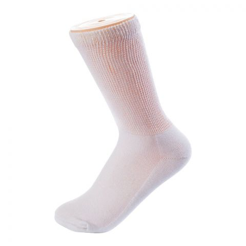 Sockoye Diabetic Crew Socks CW White