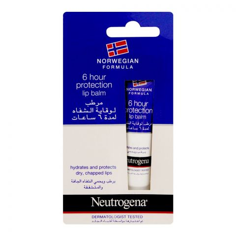 Neutrogena Norwegian Formula 6 Hour Protection Lip Balm, 15ml