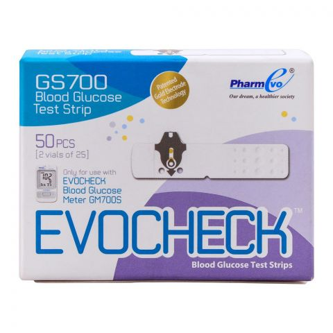 EvoCheck Blood Glucose Test Strips, 25 Count, For GM700S