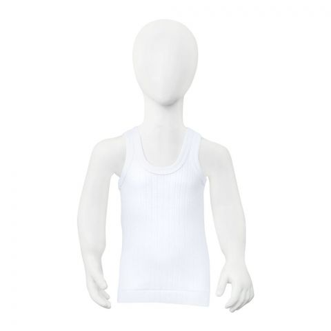 Lily Kids Vest, Sleeveless, White, 999