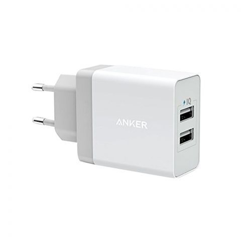 Anker 24W 2-Port USB Wall Charger And Micro USB 3ft Cable - B2021L21