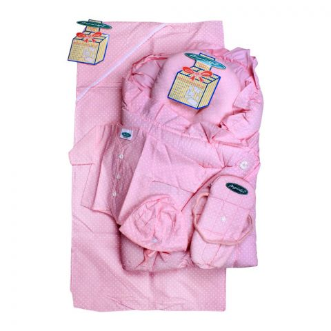 Angel's Kiss Baby Carry Bag Set, 6 Pieces, Pink