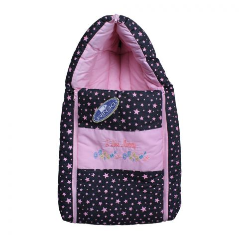 Angel's Kiss Baby Carry Bag, Denim Pink