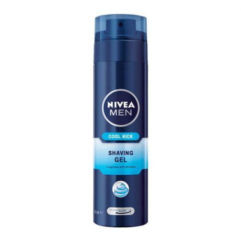 Nivea Men Cool Kick Shaving Gel, 200ml