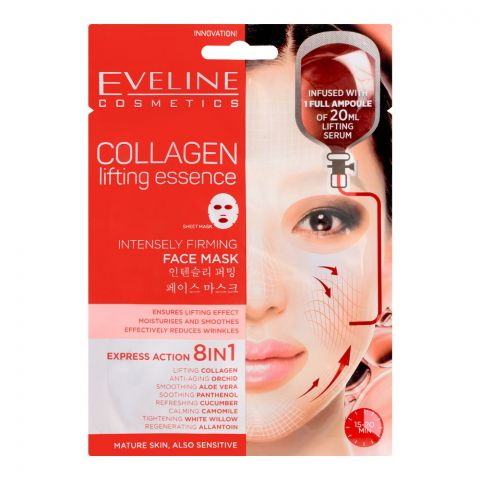 Eveline Collagen Intensely Firming Express Action 8-In-1 Face Mask, Mature/Sensitive Skin
