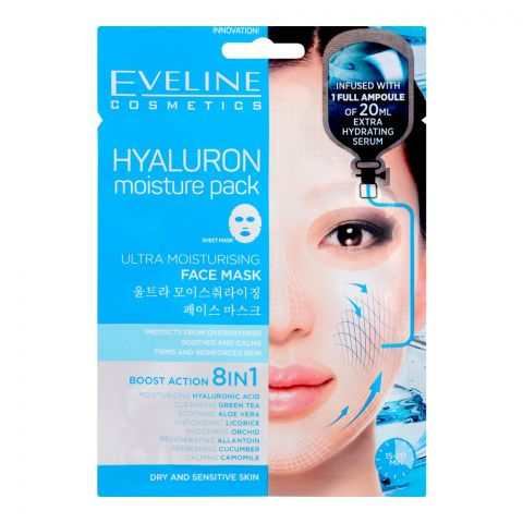 Eveline Hyaluron Boost Action 8-In-1 Ultra Moisturising Face Mask