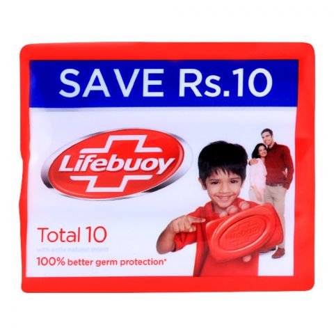 Lifebuoy Total 10 With Activ Silver Soap, Value Pack, 3x146g