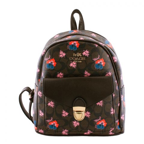 Coach Style Women Backpack Dark Brown - 830