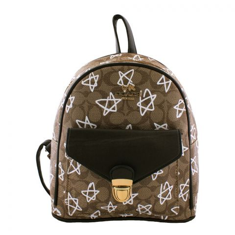 Coach Style Women Backpack Brown - 830