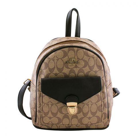 Coach Style Women Backpack Light Brown - 830