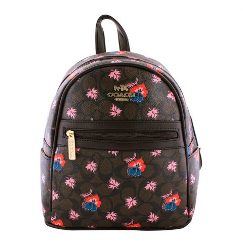 Coach Style Women Backpack Dark Brown - 3001