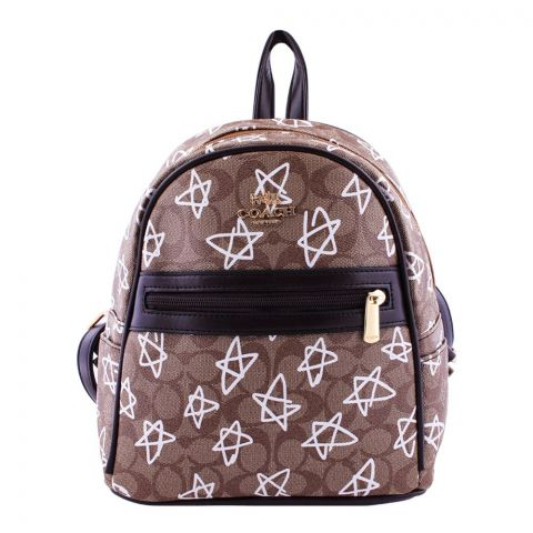 Coach Style Women Backpack Brown - 3001