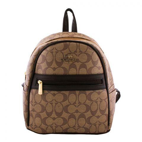 Coach Style Women Backpack Light Brown - 3001
