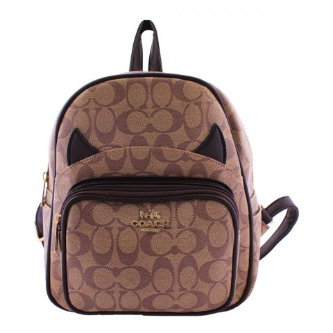 Coach Style Women Backpack Light Brown - 290