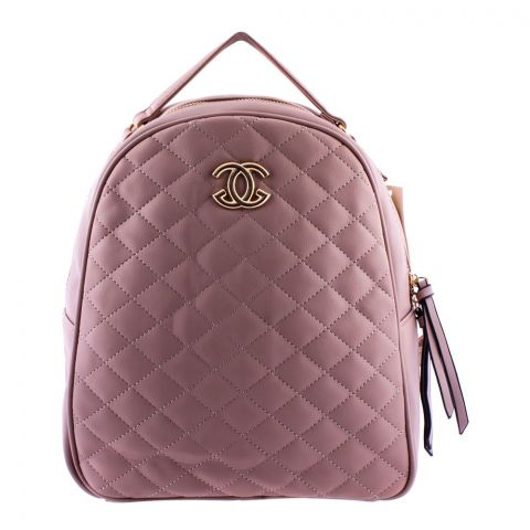 Chanel Style Women Backpack Light Pink - 8804-1