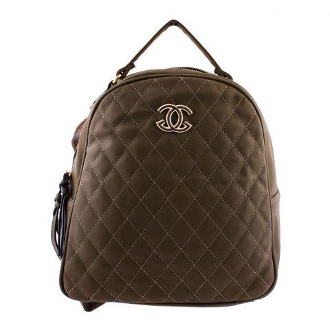 Chanel Style Women Backpack Green - 8804-1