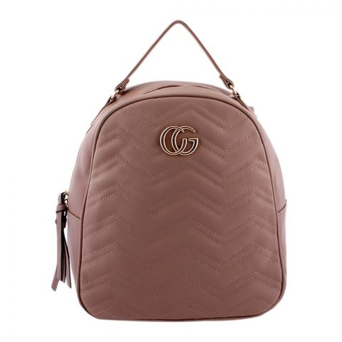 Gucci Style Women Backpack Apricot - 8802-1