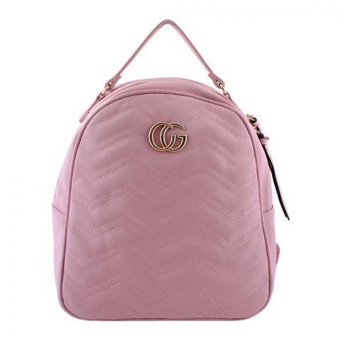 Gucci Style Women Backpack Pink - 8802-1