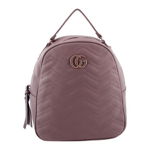Gucci Style Women Backpack Light Pink - 8802-1