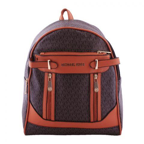 Michael Kors Style Women Backpack Dark Brown - 2812
