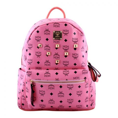 MCM Style Women Backpack Pink - M41078