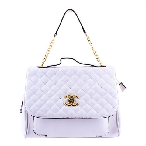 Chanel Style Women Handbag White - 55814
