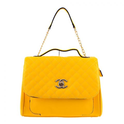 Chanel Style Women Handbag Yellow - 55814