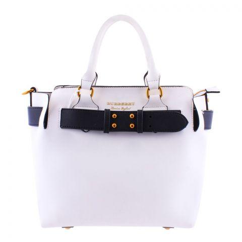 Burberry Style Women Handbag White - 3839