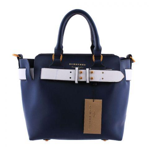 Burberry Style Women Handbag Blue - 3839