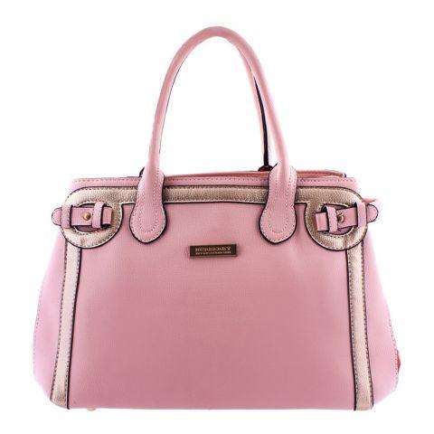 Burberry Style Women Handbag Pink - 8829