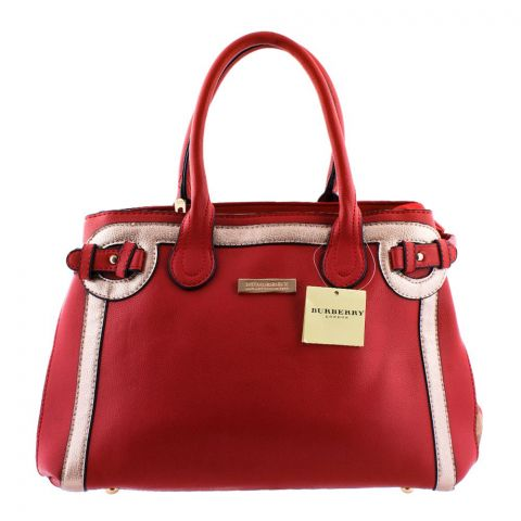 Burberry Style Women Handbag Red - 8829