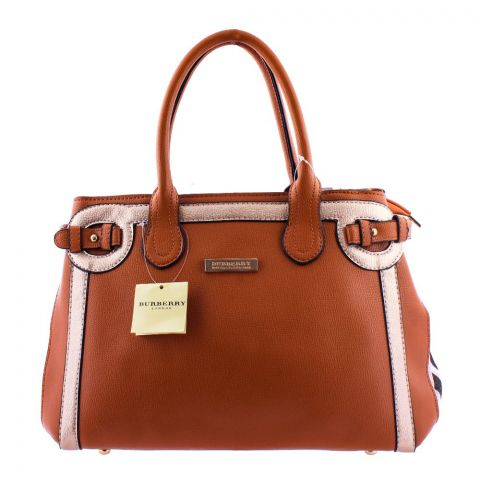 Burberry Style Women Handbag Brown - 8829