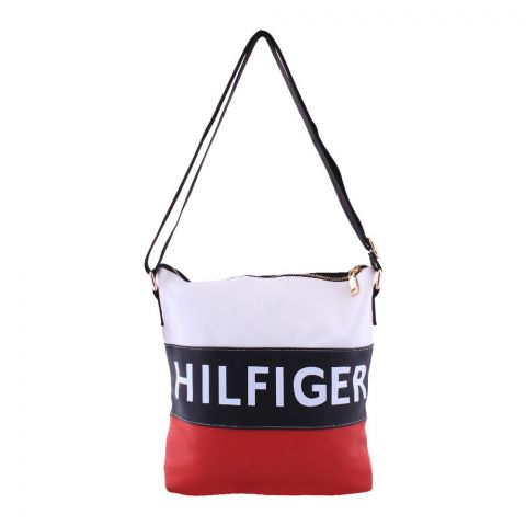 Tommy Hilfiger Style Crossbody Bag Black Red - 514