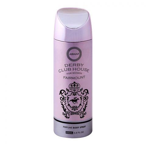 Armaf Derby Club House Fairmount Women Deodorant Body Spray, 200ml