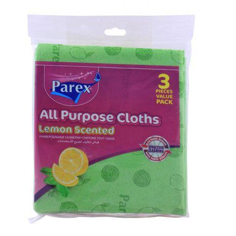 Parex All Purpose Cloths, Lemon Scented, 3-Pack