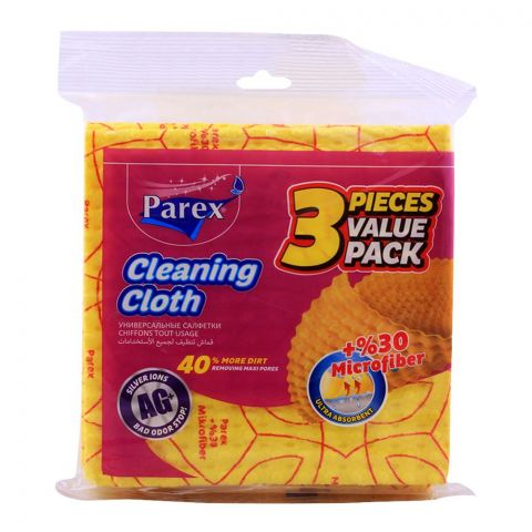 Parex Cleaning Cloth 30% Microfiber, 3-Pack