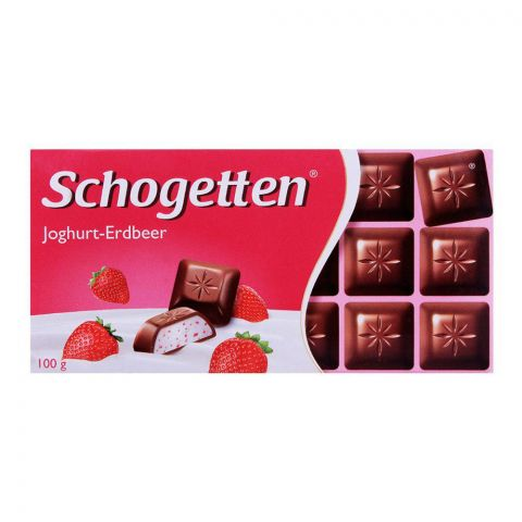 Schogetten Yogurt Strawberry Chocolate Bar 100g