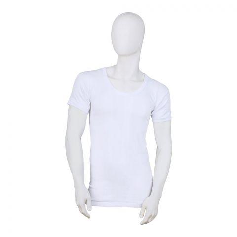Mercury Men's Vest, Full Sleeves, White