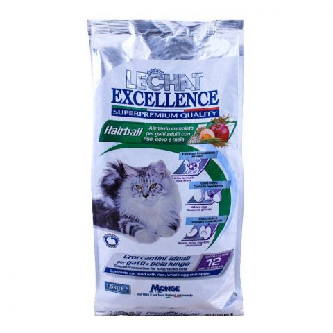 Monge Lechat Excellence Hairball Cat Food 1.5 KG