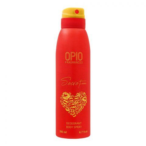 Opio Secret By Kisses Deodorant Body Spray, For Women, 200ml