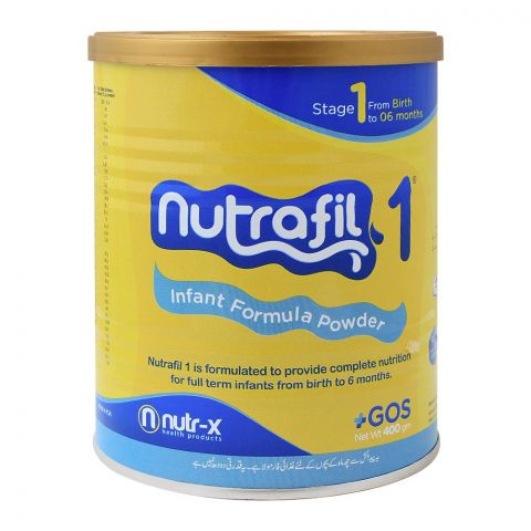 Nutrafil 1, Stage 1, Infant Formula Powder, 400g, Tin
