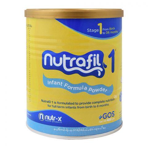 Nutrafil 1, Stage 1, Infant Formula Powder, 400g, Tin