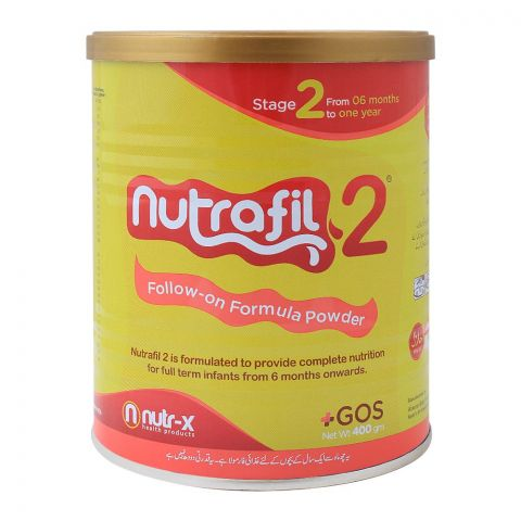 Nutrafil 2, Stage 2, Follow-On Formula, 400g, Tin