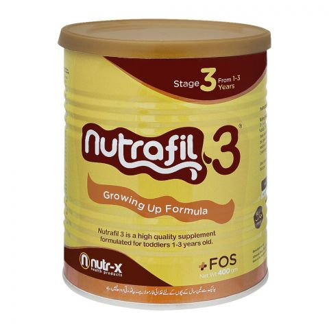 Nutrafil Stage 3, Growing Up Formula, 400g