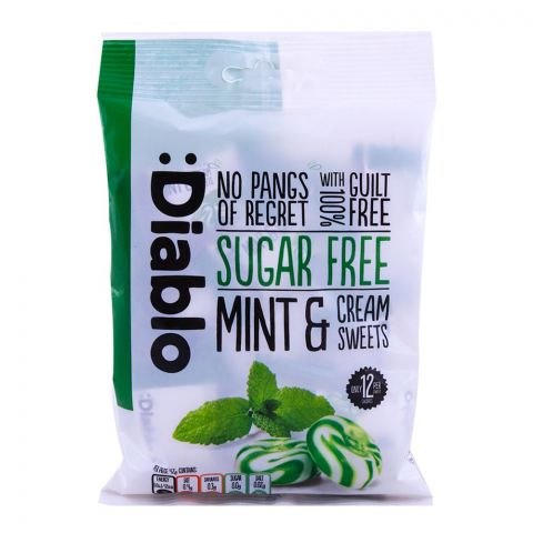 Diablo Sugar Free Mint & Cream Sweets 75g