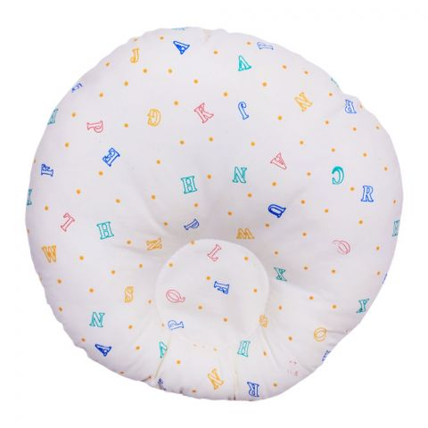 Angel's Kiss Round Baby Pillow, Yellow