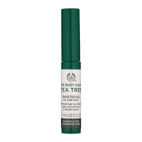 The Body Shop Tea Tree Targeted Gel, Suitable for Blemish Skin, 2.5ml
